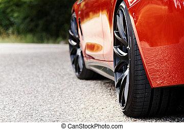 rood, sportautootje