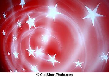 rood, sterretjes