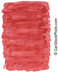 rood, watercolour, s, wassen
