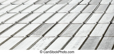 Roof covered with galvanized iron