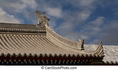 Roof decorations, Xian(Sian, Xi'an) - Roof decorations on...