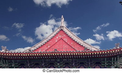 Roof decorations.Xian,China - Roof decorations on the...