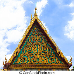 Roof gable in Thai style.