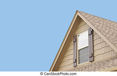 Roof gable with window and shutters