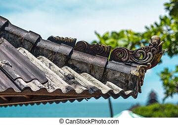 Roof gazebo with a flourish