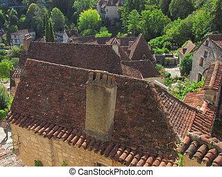 Roof, house, Lapopie