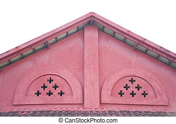 Roof house on white background