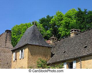Roof, house, Saint Genies, Village
