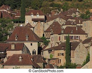 Roof, house, village Lapopie