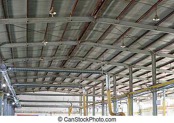 roof inside of a factory building
