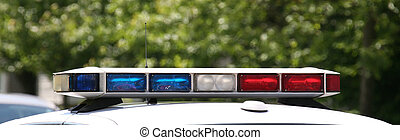 Roof lights of a police vehicle