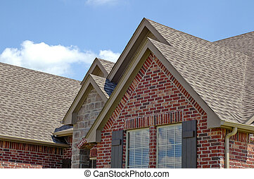 Roof Line - Roof line of a house with gabels