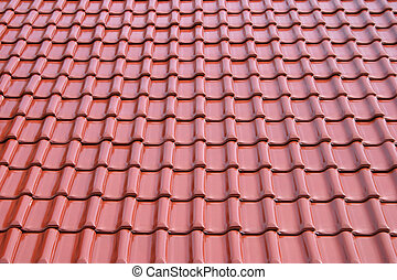 Roof metal tile - Roof pattern in perspective.