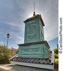 Roof of a church tower in Skelleftehamn, Sweden