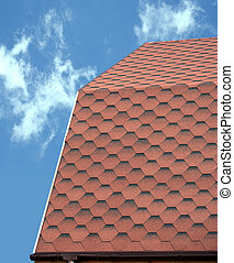 Roof of a country house covered wit
