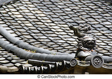 Roof of a japanese temple