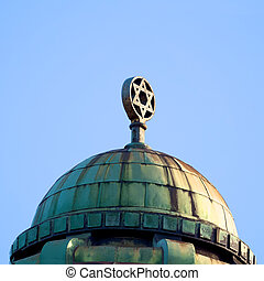 roof of a Melbourne synagogue - detailed roof of a synagogue...