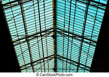 Roof of an old station in Hungary
