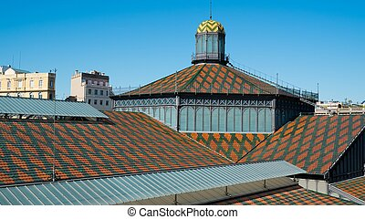 Roof of Born Market building in Barcelona