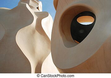 roof of Casa Mila - By Gaudi Barcelona