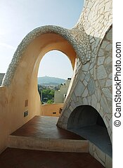 roof of Casa Mila - Barcelona by Gaudi