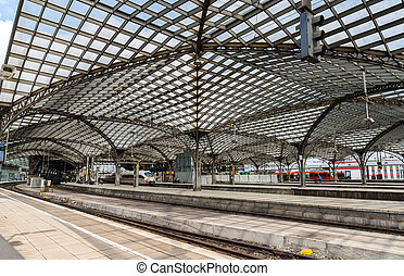 Roof of Cologne main station - Germany, North...
