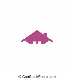 roof of home abstract logo icon