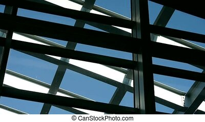 Roof of luxury mall glass house
