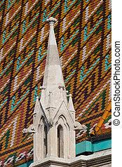 Roof of Matthias Church - The gothical Matthias church, in...