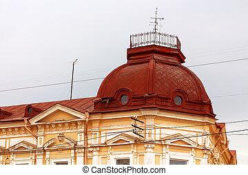 Baroque building of chernivtsi theater in ukraine built in by