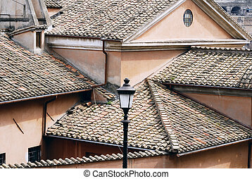 Roof of old century house