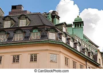 roof of old house in Stockholm