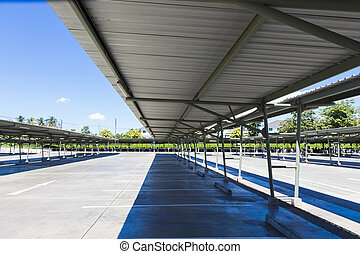 roof of outdoor parking lot