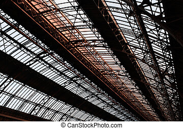 Roof of railway station