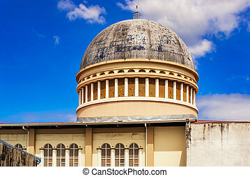Roof of the catholic church in San Jose, Costa Rica. - View...