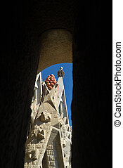 Roof of the Sagrada Familia, Barcelona, Spain