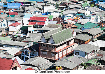 roof of village in Koh Srichang Tha