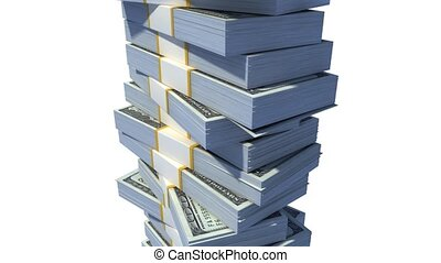 Roof on a stack of dollar bills.