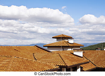 Roof over Bansko in Bulgaria - Roof over viewing Bansko ski...