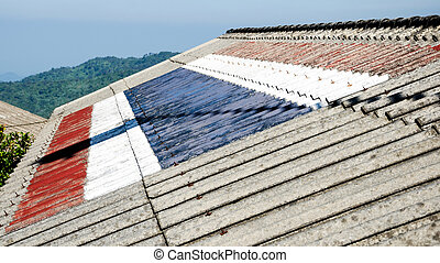Roof pattern flag of Thailand