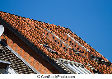 Roof repair or construction work