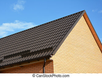 Roof Snow Guards. Roofing Construction. Metal roof snow guards prevent the avalanche of frozen precipitation on sloped metal roofing located in winter climates.