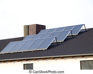Roof Solar Cells - solar cells on a roof
