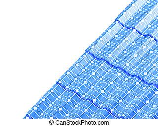 Roof solar panels  on a white background 3D illustration