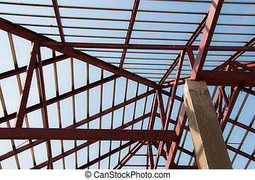 Roof steel new house