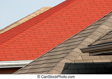 roof - part of a house with roof, american style house