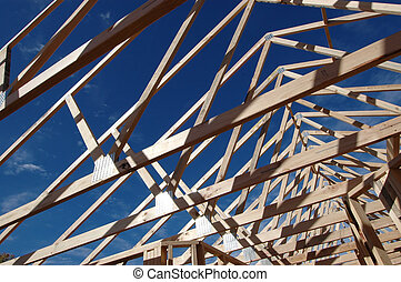 roof structure of a new house