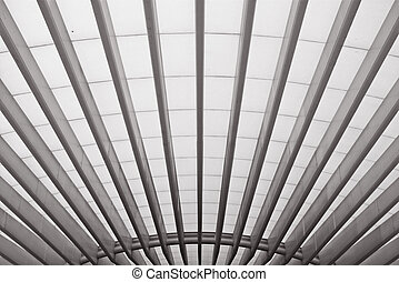 Roof structure in Oriente train station, Lisbon, Portugal