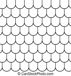Roof tile lines texture. Stripped geometric seamless pattern. Modern repeating stylish texture. Flat texture on white background. Vector