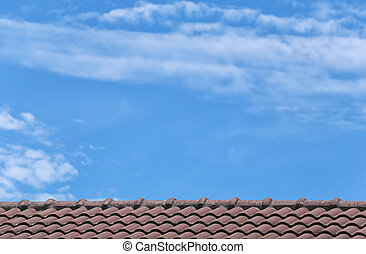 Roof tile of house.